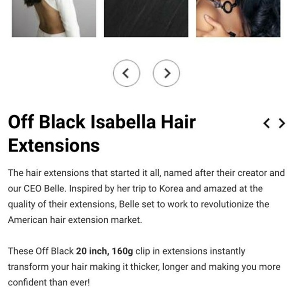 Isabella Accessories 2 Off Black Hair Extensions Poshmark